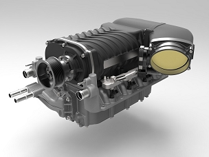 Whipple Superchargers Complete 3.8L Supercharger Kit (Blower, Throttle Body, & Air Kit) - 2013-2014 Shelby GT500