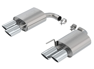 Borla S-Type Axleback Exhaust with Dual Quad Chrome Tips - 2018-2021 Mustang GT